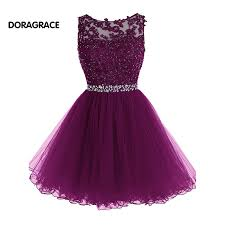 New Fashion <b>Applique</b> Beaded Designer Cocktail Dresses Short ...
