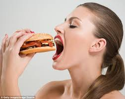 Image result for lady eating a double quarter pounder