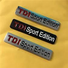 1X Metal <b>Chrome</b> Black Red <b>TDI</b> Sport Edition Turbo <b>Car</b> Sticker ...