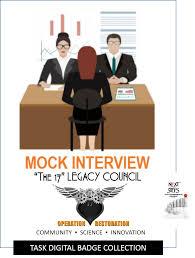 mock interview task badge the next steps youth entrepreneur program tsk mock interview v2