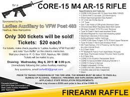 gun raffle vfw post 483 nashua nh gun raffle flyer la 1 001