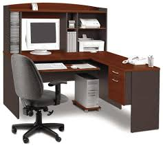beautiful home office decoration using l shaped desk with hutch home office captivating image of amazing office desk hutch