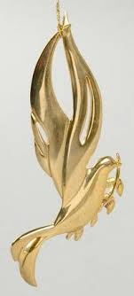 Wallace Silver, Christmas <b>Goldplated</b> Sculpture Ornaments ...