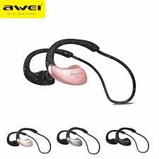 Original <b>Awei A880BL</b> Sport Headset Wireless Bluetooth NFC ...