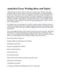 how to write an analytical essayworld of writings   world of writingsanalytical essay writing ideas and topics pdfsrcom gnotnnun