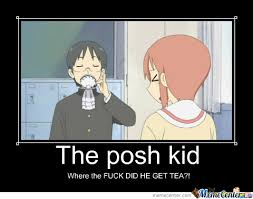 The Posh Kid by iloveanimexd - Meme Center via Relatably.com