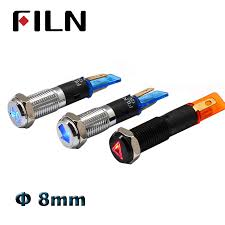 8mm <b>12v led</b> symbol illuminated indicator light <b>red green</b> blue white ...