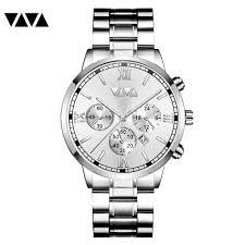 Relogio ino luxury silver quartz for <b>men</b> stainless steel sport ...