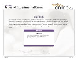write online lab report writing guide parts of a lab report lab report types of experimental errors