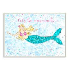 Kids <b>Mermaid Wall</b> Art | Wayfair