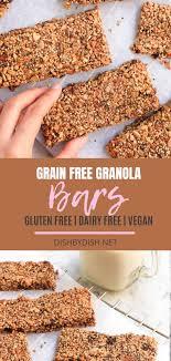<b>Grain</b>-<b>free Granola Bars</b> (Paleo, Vegan) | Recipe in 2020 | <b>Grain free</b> ...