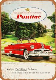 1952 Pontiac <b>Chieftain</b> Convertible <b>Vintage Look</b> Metal Sign | Etsy in ...