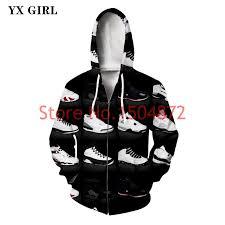 Dropshipping Jordan Shoes <b>3d</b> Printed <b>Hoodie Mens Zipper</b> ...