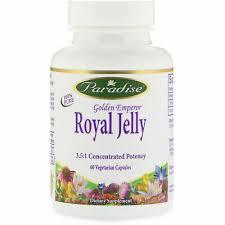 Paradise Herbs <b>Golden Emperor Royal Jelly</b> 60 Veggie Caps ...