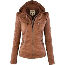 Removable Lapel <b>Long</b>-<b>sleeved</b> Solid Color <b>Zipper Women's</b> ...