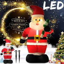 1.2M <b>LED Inflatable Santa</b> Claus <b>Christmas Inflatable</b> Doll Outdoor ...