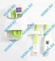 <b>Кабель</b> USB - 2в1 [iPhone + MicroUSB] <b>Pisen AL04</b> (плоский ...