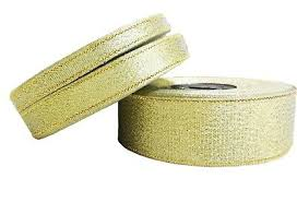 GOLD SILVER <b>GLITTER Sparkle</b> Organza RIBBON 6mm, <b>12mm</b>, 5 ...