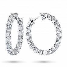 <b>Серьги</b>-конго (<b>кольца) с</b> бриллиантами – купить в Москве по ...