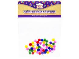 <b>Помпоны Fancy Creative</b>, 7 цветов, диаметр 8 мм, 50 шт. купить в ...