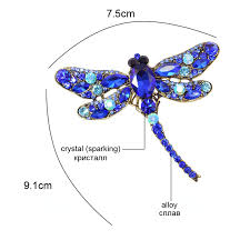 (BEST SALE) <b>CINDY XIANG</b> Crystal Vintage Dragonfly Brooches ...