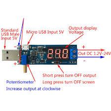 Step UP/Down Power Supply DC-<b>DC 5V To 3.3V 9V</b> 12V 24V USB ...