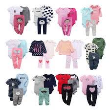 <b>5PCS</b>/<b>LOT</b> Baby Girl <b>Boy</b> Romper <b>Top Quality</b> 100% Cotton Short ...