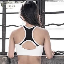 <b>Zhangyunuo</b> Shake Proof Padded Mesh Yoga <b>Bra Sports</b> T OP <b>Bra</b> ...
