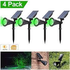 Solar Spotlight, <b>T</b>-SUNUS IP65 Waterproof <b>4</b> LED Solar Powered ...