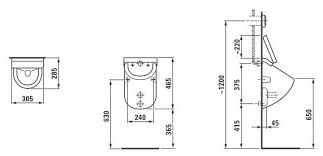 Купить <b>Писсуар</b> подвесной <b>LAUFEN Casa 8.4014.1.000.000.1</b> с ...