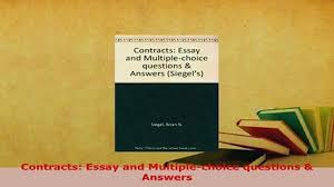 pdf contract law the fundamentals free books   video dailymotion pdf contracts essay and multiplechoice questions answers free books