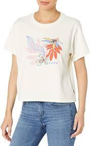<b>Levi's</b> Women's <b>Graphic Varsity Tee</b> Shirt at Amazon Women's ...