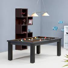 pool table dining tables: dining pool tables with simply black wooden table material with