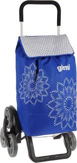 """<b>Сумка</b>-<b>тележка Gimi</b> """"<b>Tris Floral</b>"""", цвет: синий, белый, 56 л"""
