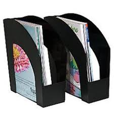 office depot brand arched plastic magazine files 8 12 x 11 black pack of 2 by cep ice magazine rack