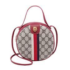 Women Fashion <b>letter</b> print <b>shoulder bags</b> Flap <b>round</b> cute ...