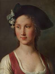Pietro Antonio Rotari: A young woman with a hat. - H0862-L18493127