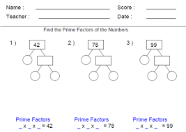 Gain familiarity with factors and multiples | 4th Grade Math ...4th Grade Worksheets - Gain familiarity with factors and multiples.