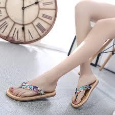 <b>Summer Slippers Women Fashion</b> Casual Flat Flip Flops Sandals ...