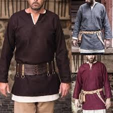 <b>Medieval Men</b> Shirt Viking Knight Tops Tunic Warrior Pirate ...