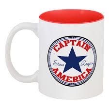 """Кружка цветная внутри """"Капитан <b>Америка</b>"""" #2167806 от Sheriff ..."""