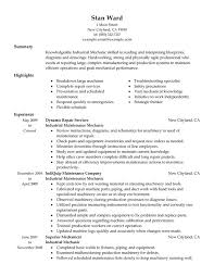 Unforgettable Industrial Maintenance Mechanic Resume Examples to ... Industrial Maintenance Mechanic Resume Sample