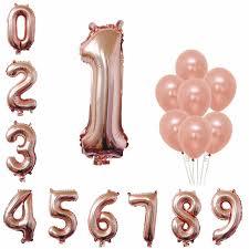 <b>ZLJQ</b> First Birthday Decorations For Girl Princess Rose Gold Balloon ...