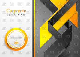 flyer design anuvrat info abstract corporate tech flyer design vector image 92627 rfclipart