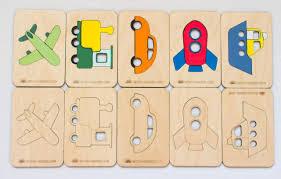 """Деревянные <b>карточки</b>-вкладыши <b>Wood Machine</b> """"Транспорт ..."""