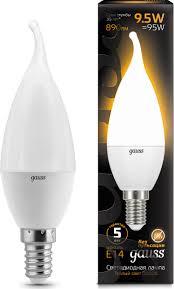 <b>Лампочка Gauss</b> Black LED, свеча, E14, 9,5W. <b>104101110</b>