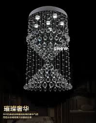 facotry direct led crystal lights chandelier modern home lighting dia60h150cm stair lighting fixture banner5 stair lighting