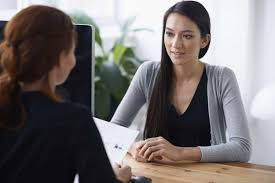 explaining unemployment in the job interview careerbuilder two women interviewing