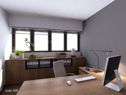 this neat and tidy office space is bright and open with a wall of windows in bonsai tree office window