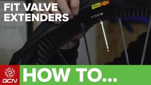 How To Fit Valve Extenders – Road Bike Maintenance - YouTube